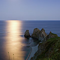 Full Moon On Cape Four Rocks by V. Serebryanskiy