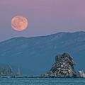 Full Moon Over Cape Laplace. by V. Serebryanskiy