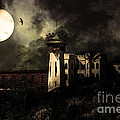 Full Moon Over Hard Time - San Quentin California State Prison - 7d18546 - Partial Sepia by Wingsdomain Art and Photography