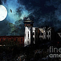 Full Moon Over Hard Time - San Quentin California State Prison - 7d18546 by Wingsdomain Art and Photography