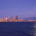 Full Moon Over Seattle by Michael Merry