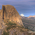 Full Moon Rise Behind Half Dome 2 by Jim And Emily Bush