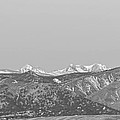 Full Moon Setting Over The Co Rocky Mountains Bw by James BO  Insogna