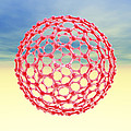 Fullerene Molecule, Computer Artwork by Laguna Design
