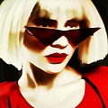 Funky Red Glasses by Alice Gipson
