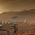 Future Mars Colonists Playing by Steven Hobbs