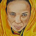 Gabbra Woman In Yellow by Emmanuel Turner