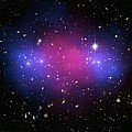 Galaxy Cluster Collision, X-ray Image by Nasaesacxcstscim. Bradac And S. Allen