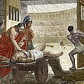Galen Treating A Gladiator In Pergamum by Sheila Terry