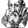 Galileo Galilei, Caricature by Gary Brown