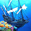 Galleon On The Cliff Filtered by Duane McCullough