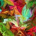 Garden Abstract 072312 by David Lane