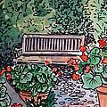 Garden Bench Sketchbook Project Down My Street by Irina Sztukowski