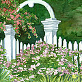 Garden Circle Gate by Audrey Peaty