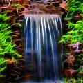 Garden Falls Fractalized by Lynne Jenkins