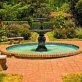 Garden Fountain 03 by Cindy Haggerty