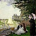 Garden House On The Zaan - Zaandam by Claude Monet
