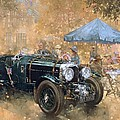 Garden Party With The Bentley by Peter Miller