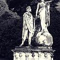 Garden Statue At Villa Capri by Greg Matchick