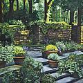 Garden Wall by Judy  Hilton