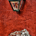 Gaslight On A Red Wall by Bill Cannon