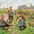 Gathering Flowers by Joseph Julien