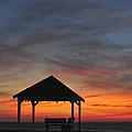 Gazebo At Sunset Seaside Park, Nj by Terry DeLuco