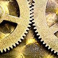 Gears From Inside A Wind-up Clock by John Short