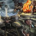 Gears Of War Battle by Kerstin Carrion