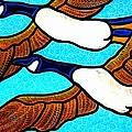Geese In Flight by Jim Harris