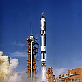 Gemini 12 Astronauts Lift Off Aboard by Stocktrek Images