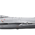 General Dynamics F-16a Fighting Falcon by Chris Sandham-Bailey