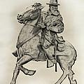 General James Longstreet Statue At Gettysburg  by Randy Steele
