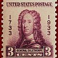 General James Oglethorpe Postage Stamp by James Hill