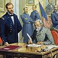 General Ulysses Grant Accepting The Surrender Of General Lee At Appomattox  by Severino Baraldi