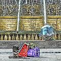 Genoa Sweet Hitchhiker In De Ferrari Square by Enrico Pelos