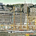 Genova Cruising And Sailing Ships And Buildings Landscape by Enrico Pelos