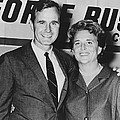 George And Barbara Bush In Houston by Everett