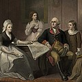 George And Martha Washington Sitting by Everett