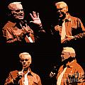 George Jones Concert Collage by Barbara Griffin