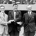 George Sisler, Babe Ruth And Ty Cobb by Everett