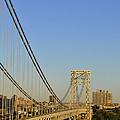 George Washington Bridge And Boat by Zawhaus Photography