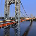 George Washington Bridge At Twilight by Zawhaus Photography