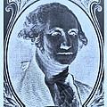 George Washington In Negative Cyan by Rob Hans