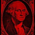 George Washington In Red by Rob Hans