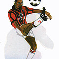 George Weah In Action by Emmanuel Baliyanga