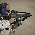 German Police, Isaf Member Fires A G36k by Terry Moore