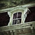 Ghostly Girl In Upstairs Window by Jill Battaglia