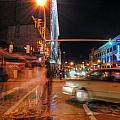 Ghostly Halloween Party Goers On Chippewa by Michael Frank Jr