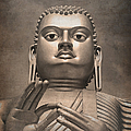 Giant Gold Buddha Vintage by Jane Rix